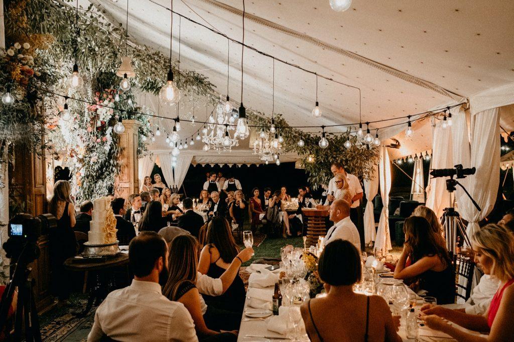 Alex & Carla's Luxury Tent Wedding Celebration 190